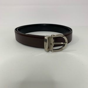 Ferragamo Men's Black Brown Reversible Belt Sz 34